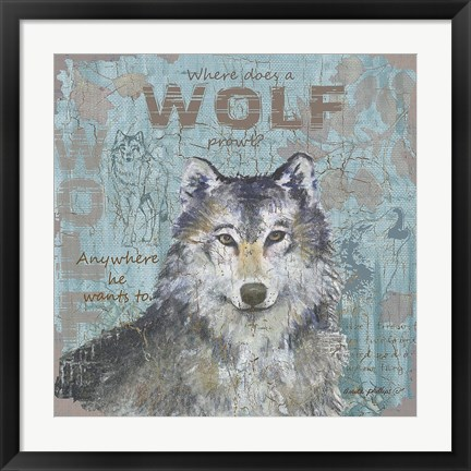 Framed Where Does a Wolf Prowl Print