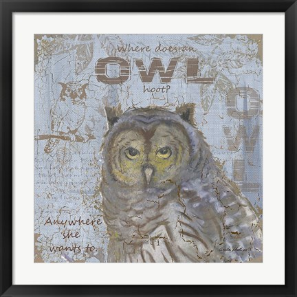 Framed Where Does an Owl Hoot Print
