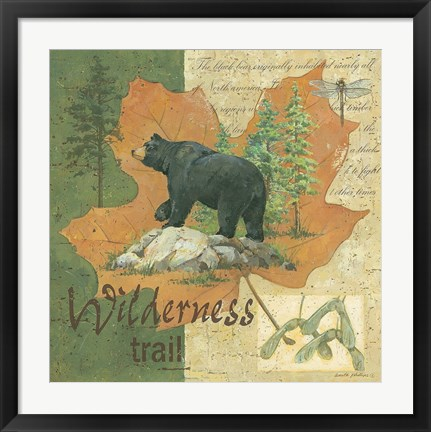 Framed Wilderness Bear Print