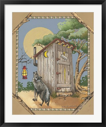 Framed Wolf Howling Print