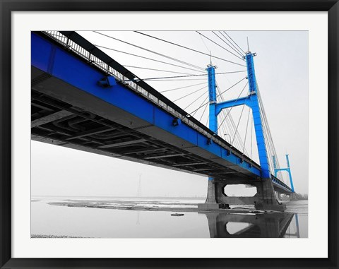 Framed Blue Bridge Print