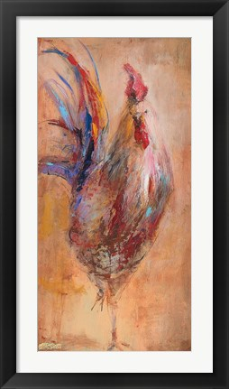Framed French Roosters Print