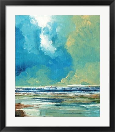Framed Sea View on Board I Print