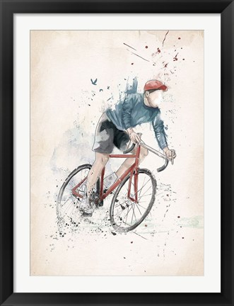 Framed I Want to Ride My Bicycle Print
