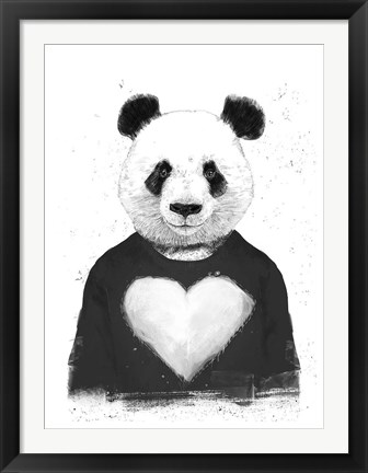 Framed Lovely Panda Print