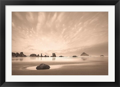 Framed Morning on the Beach Print