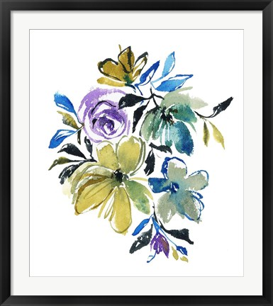 Framed Blue Notes Print