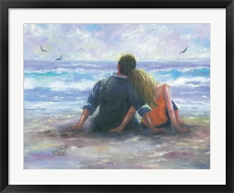 Framed BeachLovers I Print