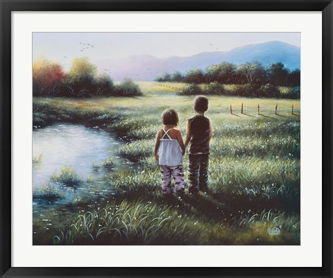 Framed Country Kids Print