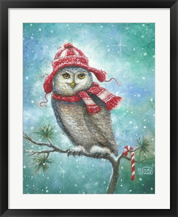 Framed HOOT this Christmas! Print