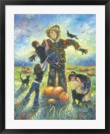 Framed Pumpkin Patch Helping Hands Print