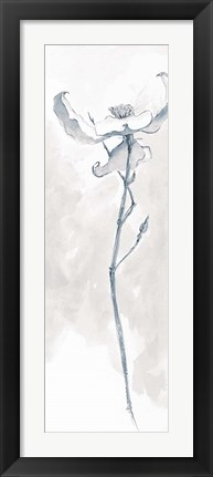 Framed Solitary Dogwood IV Gray Print