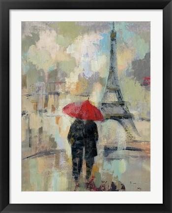 Framed Rain in the City II Print