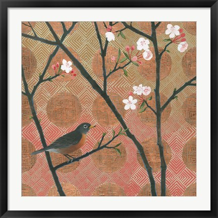 Framed Cherry Blossoms II Print