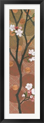 Framed Cherry Blossoms Panel I Crop Print