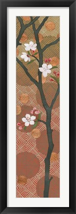 Framed Cherry Blossoms Panel II Crop Print