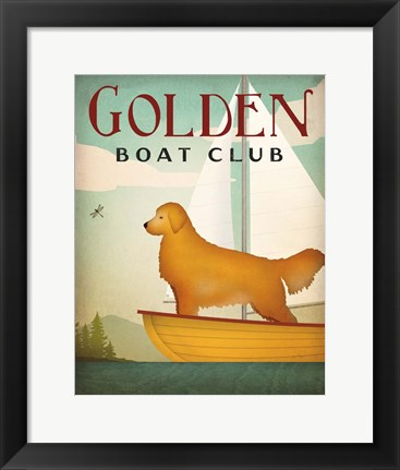 Framed Golden Sail Print