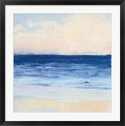 Framed True Blue Ocean I Print
