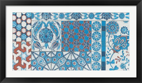 Framed Turkish Tiles Print