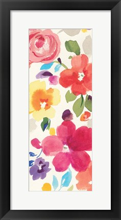 Framed Popping Florals II Print