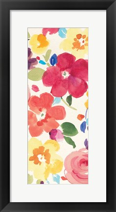 Framed Popping Florals III Print