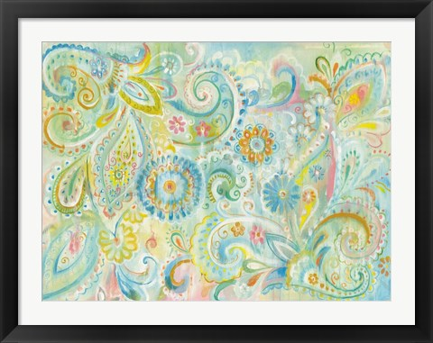 Framed Spring Dream Paisley Print