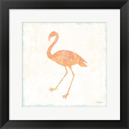 Framed Flamingo Tropicale VI Print