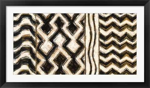 Framed Black and Gold Geometric VII Print