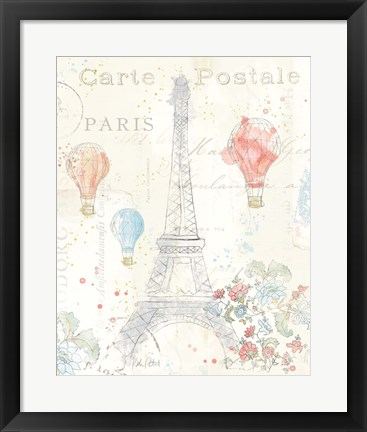 Framed Lighthearted in Paris II Print
