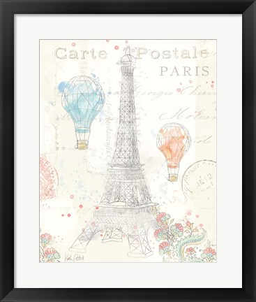 Framed Lighthearted in Paris III Print