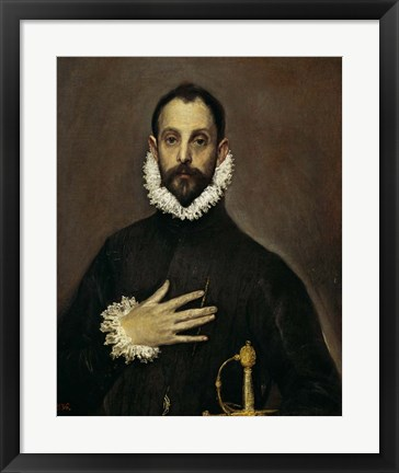 Framed Nobleman with his Hand on his Chest, c. 1577-1584 Print