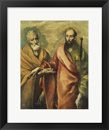 Framed Saints Peter and Paul Print