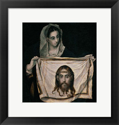 Framed Saint Veronica with the Sudarium Print