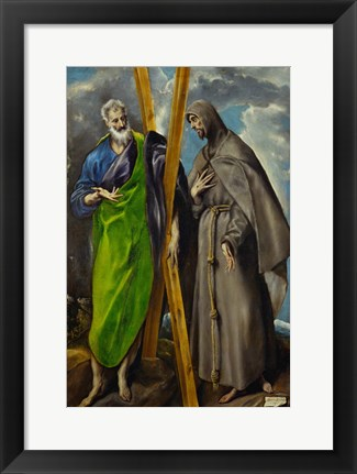 Framed Saint Andrew and Saint Francis Print