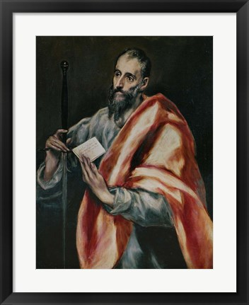 Framed Saint Paul, the Apostle Print
