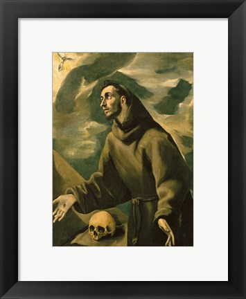 Framed Saint Francis Receives the Stigmata Print