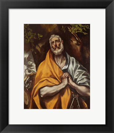 Framed Tears of Saint Peter Print