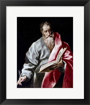 Framed Apostle Saint Matthew, 1602-05 Print