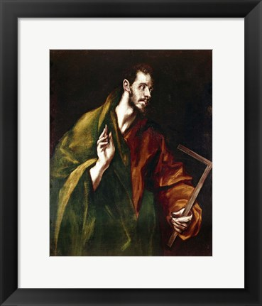 Framed Apostle Saint Thomas, 1602-05 Print