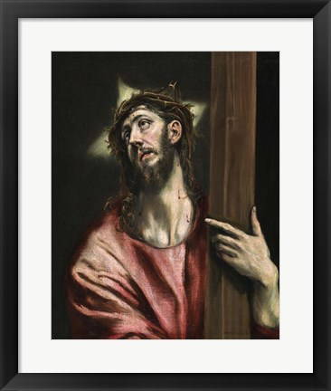 Framed Christ with the Cross c. 1587-1596 Print