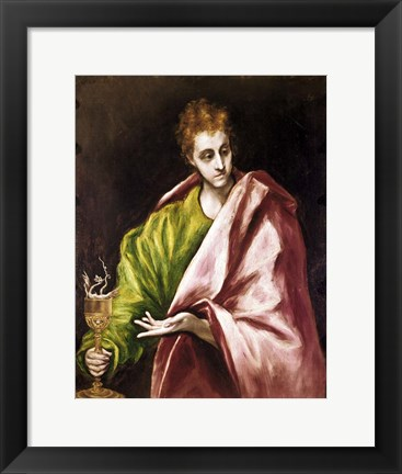 Framed Apostle Saint John the Evangelist Print