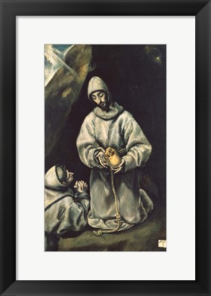 Framed Saint Francis of Assisi 1600 Print