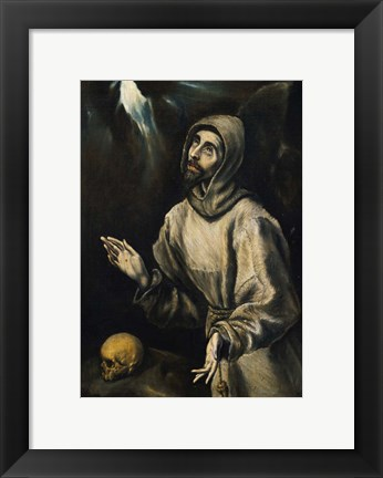 Framed St Francis Receiving the Stigmata Print