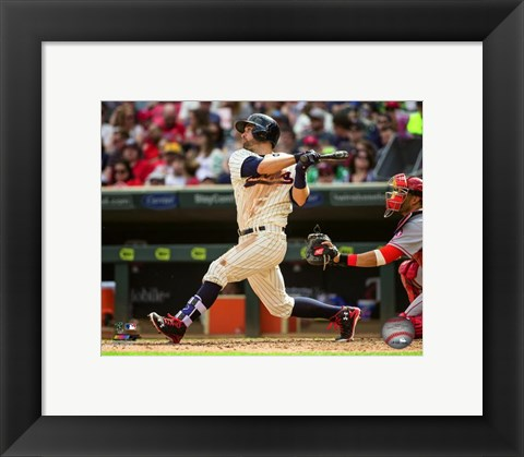 Framed Brian Dozier 2016 Action Print