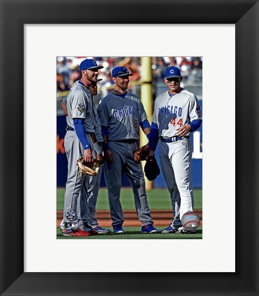 Framed Chicago Cubs All-Star Infield 2016 MLB All-Star Game Print