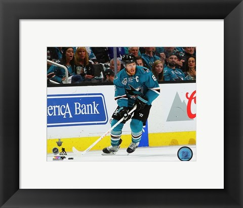 Framed Joe Pavelski 2016 Stanley Cup Playoffs Action Print