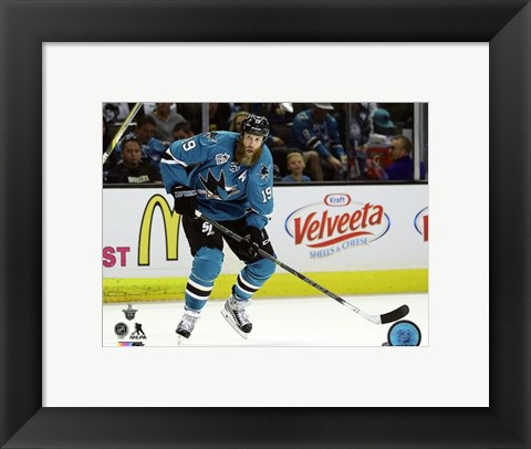 Framed Joe Thornton 2016 Stanley Cup Playoffs Action Print