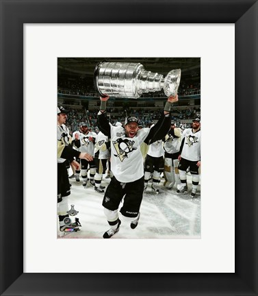 Framed Matt Cullen with the Stanley Cup Game 6 of the 2016 Stanley Cup Finals Print