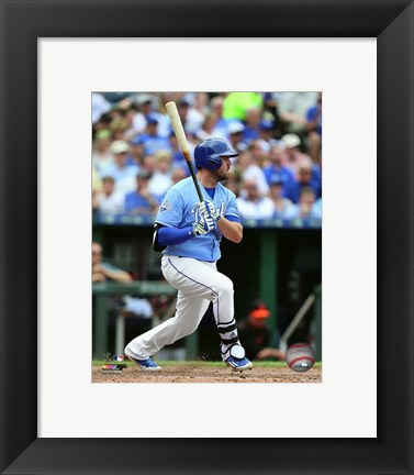 Framed Mike Moustakas 2016 Action Print