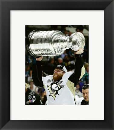 Framed Phil Kessel with the Stanley Cup Game 6 of the 2016 Stanley Cup Finals Print